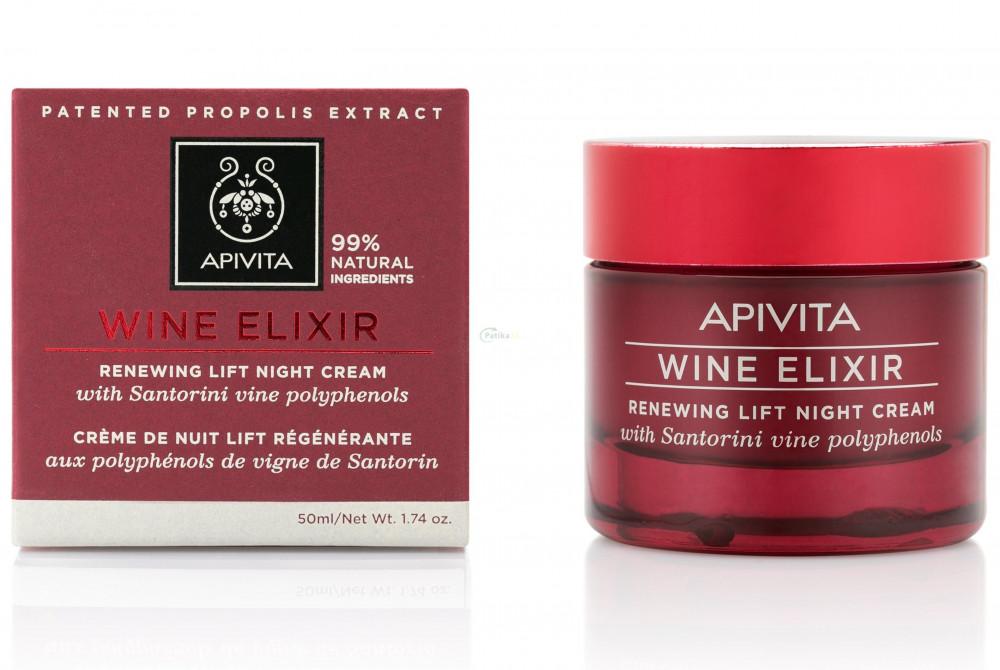 APIVITA WINE ELIXIR - Ránctalanító éjszakai krém 50 ML - der